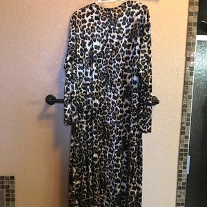 Sweaters - Leopard ankle length duster! Brand new with tags.
